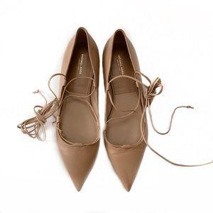 Michael Kors Collection Shoes - Michael Kors Collection Kallie Lace Up Flats